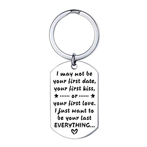 XYBAGS Anniversary Keychain for Husband from Wife, Birthday Wedding Valentine