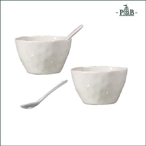 la Porcellana Convivio Lot 2 Bols Cuillères W/CM 10 Go, Blanc