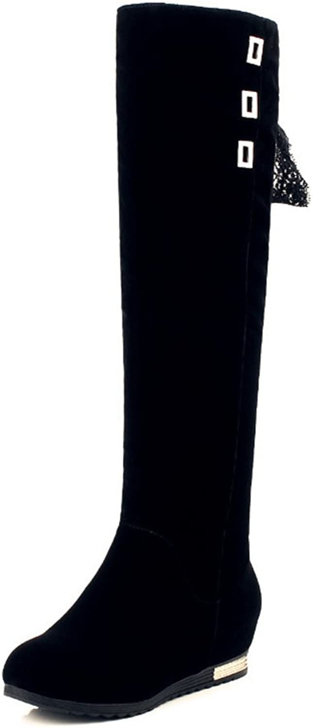 RHFDVGDS The spring and autumn and winter wear high boots skinny flat boots high ladies boots