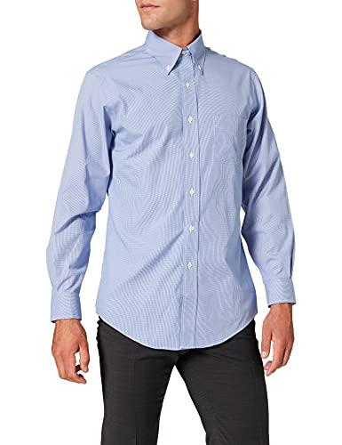 Brooks Brothers - Dress Non-Iron Botton Down Classic, Camicia da uomo, blue 61, 43 (collo in. 17 manica in. 35)