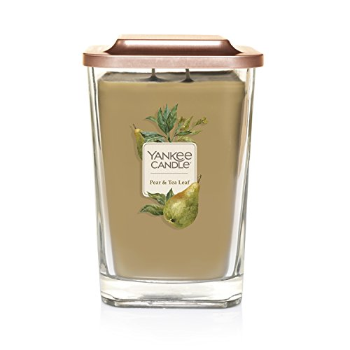 Yankee Candle Company Elevation Collection with Platform Lid, Large 2-Wick Candle, Pear & Tea Leaf