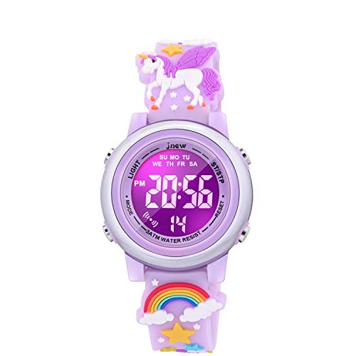 VAPCUFF Toys for Girls Age 3-9, Kids Watches for Girls Fun Toys for 4 5 6 7 8 9 10 Year Old Girls Popular Gifts for 3 4 5 6 7 8 Year Old Girls - Unicorn Purple