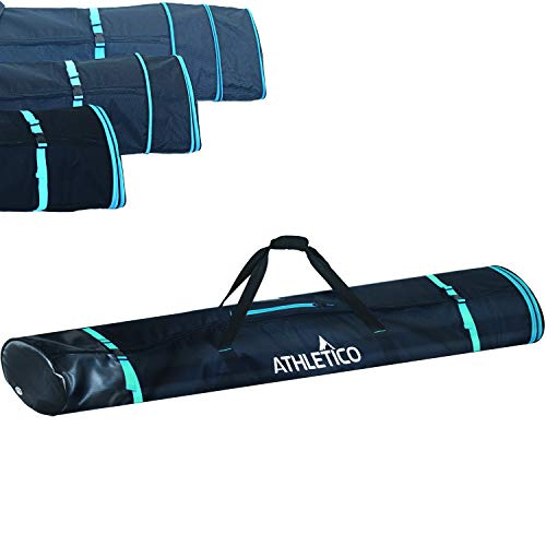Athletico Dynamic Adjustable Length Ski Bag - Padded Ski Bag Adjusts from 170cm to 190cm