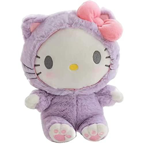 20 cm My Melody Cinnamorol Kitty Soft Muñecas de peluche de peluche Lindo Anime Kawali Perros Gatos Decorar bolsas Adulto Niños Juguetes Regalo de las niñas