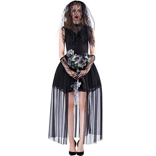 ZHAOHUIYING Volwassen horror vrouwelijke geest vampier bruid halloween kostuum donkere mantel heks kostuum vrouwen