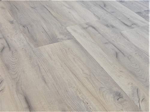 Schnell | Design Vinylboden Basic Designboden Holzoptik Dielenformat Klicksystem Stärke 4,0mm Nutzschicht 0,3mm NKL 23/31 Wasserresistent | 1 Paket = 2,81m² | Rustic Grau