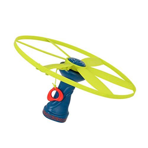 Battat-BX1592Z Disque Volant Lumineux avec Lanceur-Light-Up Disc-Oh Flyers – pour Enfants de 3 Ans et Plus, BX1592Z, Multicolore