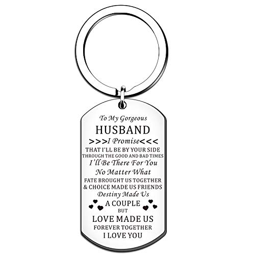 HULALA To MY Gorgeous Husband Keyring Valentines Gifts For Him I Love You...