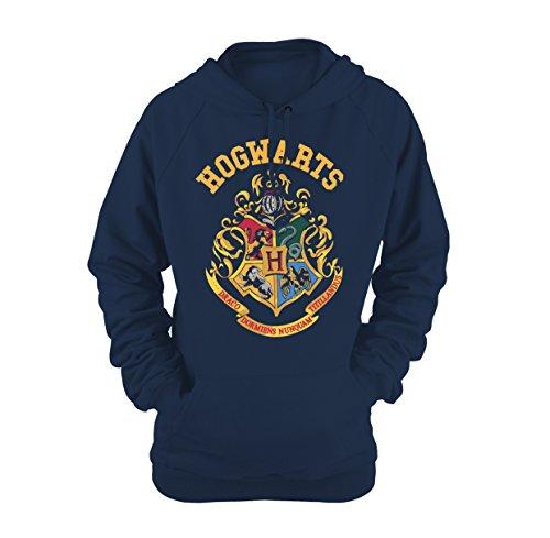 Plastic Head Damen Harry Potter Crest Ghsw Sweatshirt, Blau (Blue), 36 (Herstellergröße: Small)