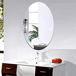 FreshDcart Wall FDCAM0 Removable Self Adhesive Mirror Sheet   Waterproof Wall Decal Wall Art Sticker for Bathroom, Bedroo...