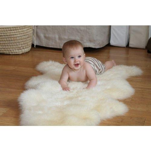 "Lamby Baby's Lambskin Short-Shorn Wool Sleep Pad – Size 36"" X 24"" – Machine Washable"