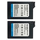 PSP Battery, TFSeven 2Pcs PSP-S110 Rechargeable Lithium Ion Replacement Battery Pack Compatible for Sony PSP Slim Portable Playstation PSP-2000, PSP-2001, PSP-3000, PSP-3001, PSP-3002, PSP-3004