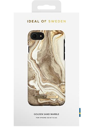 IDEAL OF SWEDEN IDFCGM19-I7-164 - Fashion Case - Golden Sand Marble - für Apple iPhone 6(S), Apple iPhone 7, Apple iPhone 8, Apple iPhone SE (2020)