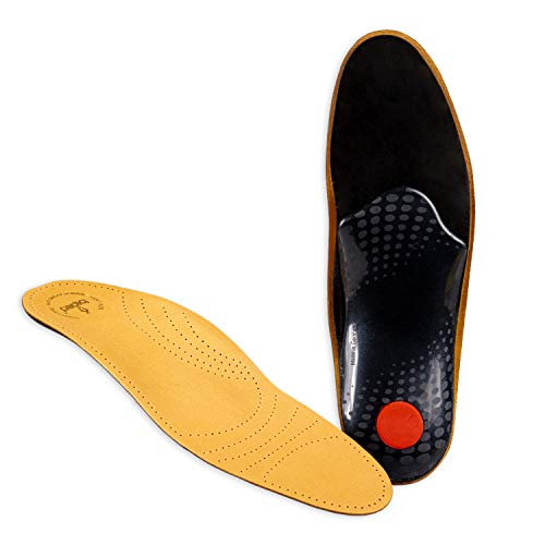 biped Premium Soft Fußbett extra weich - pflanzlich gegerbtes Leder und Aktivkohle - mit Pelotte - Mittelfußstütze - Fersenpolster z1719(47)