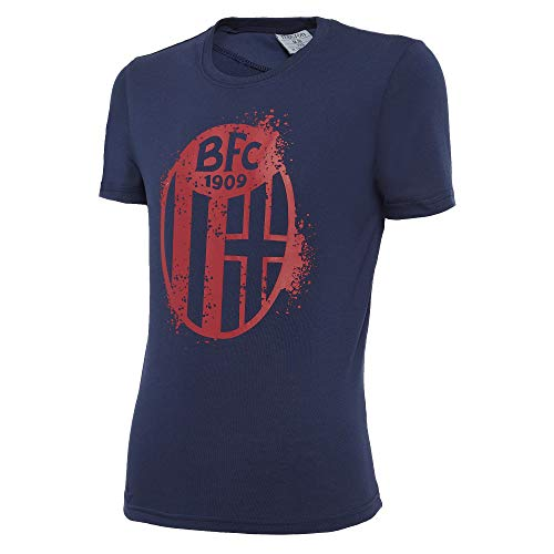 Macron Bfc Merch Ca - Camiseta de algodón para niño, diseño de Bologna FC 2020/21, Color Azul, Talla L