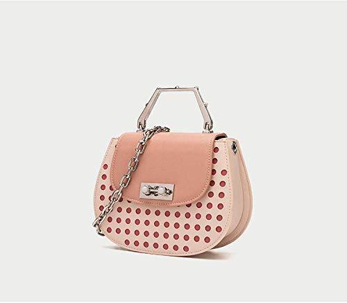 Zijie-bh Damentaschen Eine-Schulter Diagonal Piglet Tasche Eltern-Kind-Beutel-Sattel-Beutel-Schulter-Beutel Schwein Tasche Diagonal Weibliche Tasche Geeignet für Einkauf (Size : Pink)
