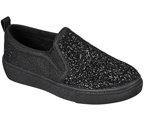 Concept 3 by Skechers Girls' Glitz & Gleam Fashion Slip-on Sneaker, Black, 13 Medium US Little Kid