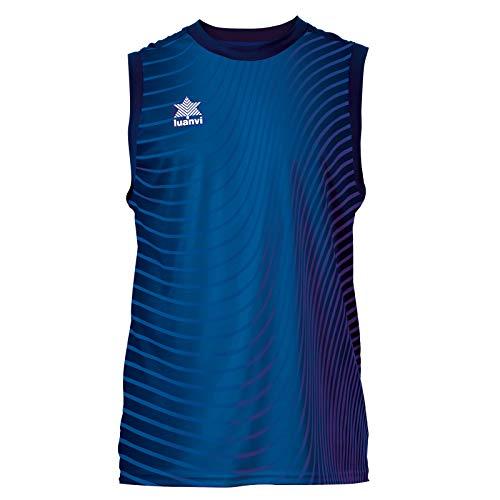 Luanvi Río Camiseta de Tirantes de Baloncesto, Mujer, Azul, XXL
