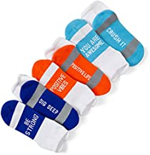 Your Inspirational Message Athletic 3-Pair Multicolored Sock Set | Get Well Soon