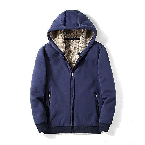 Page Adelasd Kapuzenpullover Sweater Herrenbekleidung Plus Samtjacke Winter Herren warme Dicke Sweaterjacke dunkelblau XXL