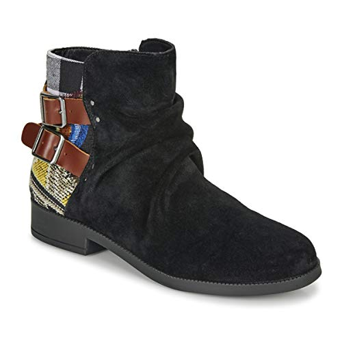 Desigual Ottawa Patch Stiefelletten/Boots Damen Schwarz - 39 - Boots Shoes
