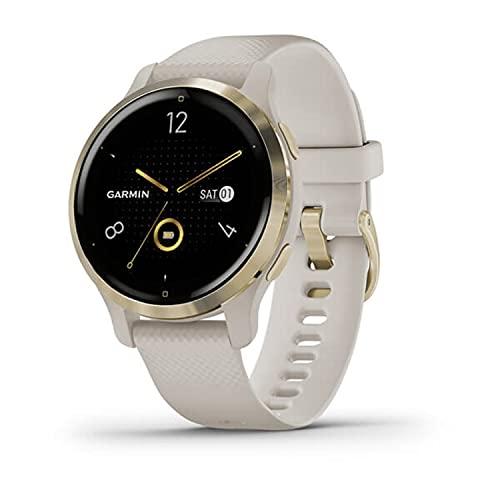 Garmin Venu 2S - Reloj inteligente con GPS, música y deportes, Beige Light Gold