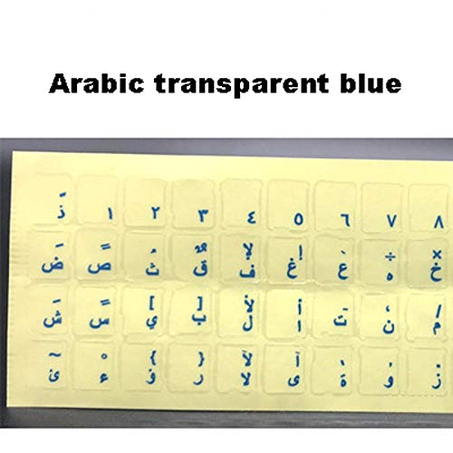 Engels Thais Russisch Arabisch Toetsenbord Stickers Toetsenbord Membraan Laptops Universele Wortel Tafel Letter Stickers