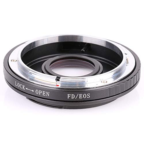 SSSabsir FD-EOS Mount Adapter for Canon FD Lens to Canon EOS EF Glass Focus Infinity