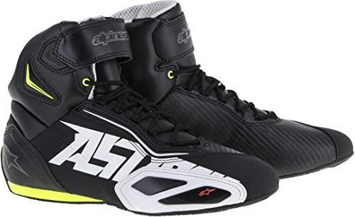 Alpinestars Faster -2 Schuhe 6.5 (38.5) Schwarz/Weiß/Rot/Gelb