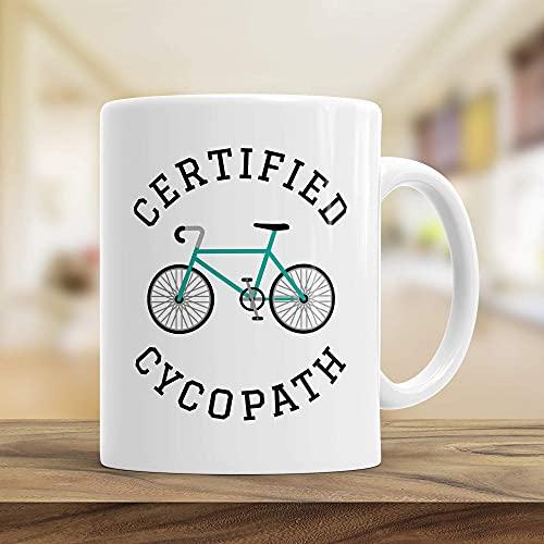 N\A Bike Gift Coffe Mug Ciclista Broma Taza de café Taza de cerámica para el hogar y la Oficina 11 oz...