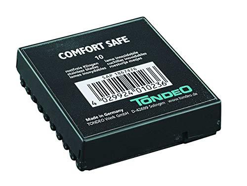 Tondeo Comfort Safe rostfreie Klingen, 10 Stück, 1er Pack, (1x 10 Stück)