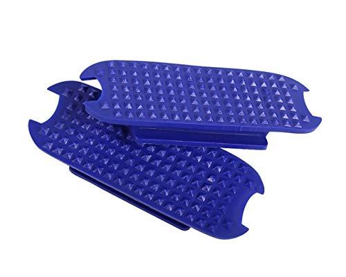 Arbo-Inox® - Sicherheitssteigbügel - Edelstahl - farbige Einlagen und Ringe (Steigbügeleinlagen 12cm, blau)