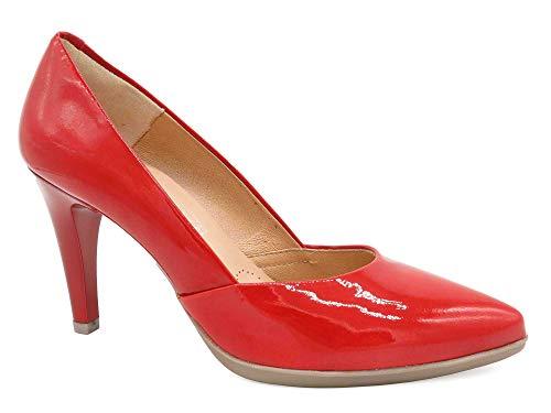 Desireé Zapatos tacón Mujer Cuero Charol Rojo EUR-35