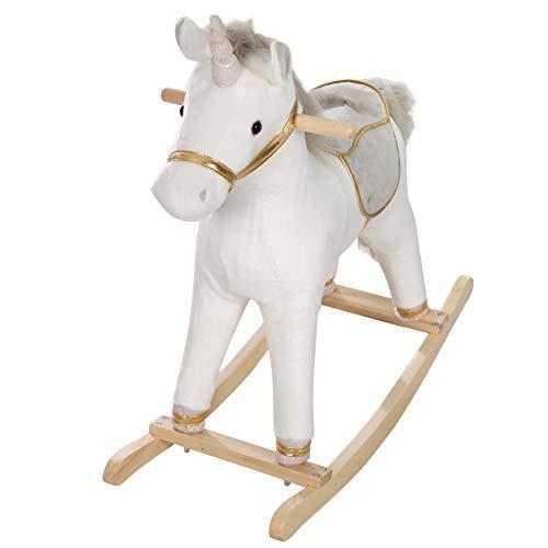 roba 460120 Unicorno A Dondolo Grande - 2250 g, Bianco