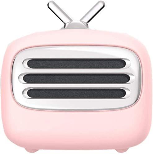 Altavoz Bluetooth para TV retro, simple, bonito, cómodo, creativo, altavoz inteligente, multifunción inalámbrico, alta calidad de sonido-rosa