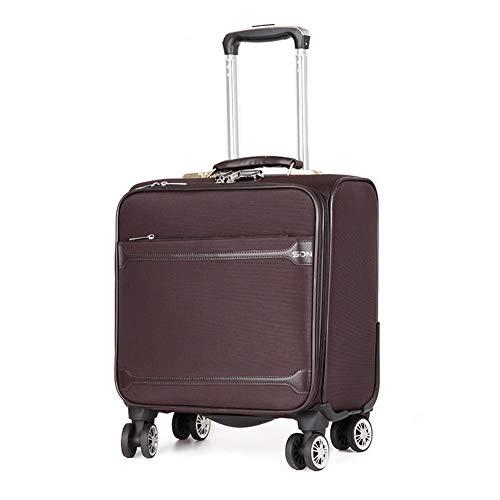 AGW 16-Zoll-Oxford-Stoffkoffer, Mini-Reisekoffer, Business-Koffer, 4 um 360 ° drehbare Atemgeräte, männliche Passwortbox, weiblicher Bordkoffer, 3,5 kg (40 cm - 35 l)-brown-16inch-40 * 25 * 40CM