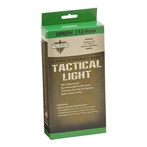 Tac Shield 12 Hour Light Stick (10-Pack), Green, 6