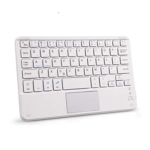 RxDZY Draagbaar mini draadloos bluetooth toetsenbord met touchpad universeel voor alle 7-10 inch tablets