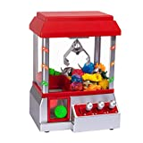 Claw Toy Grabber Mini Arcade Machine with Lights & Sounds - Electronic Claw Toy Grabber Machine, Animation, Authentic Arcade Sounds for Exciting Play – with Volume Control Switch (Candy Claw Machine)