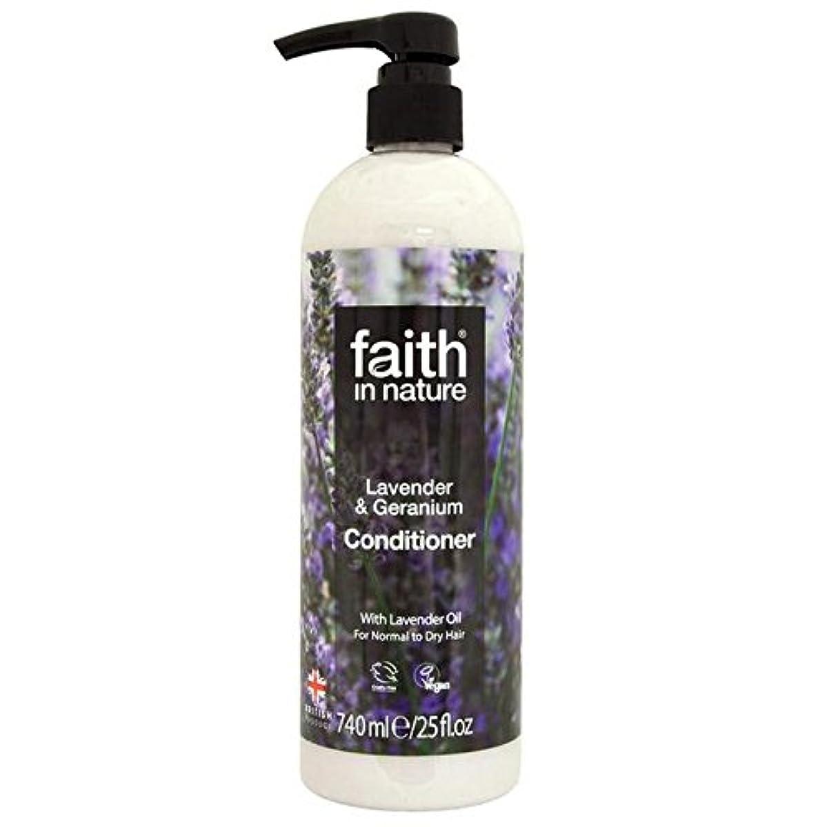 決定するくるくる遠近法Faith in Nature Lavender & Geranium Conditioner 740ml (Pack of 6) - (Faith In Nature) 自然ラベンダー&ゼラニウムコンディショナー740ミリリットルの信仰 (x6) [並行輸入品]