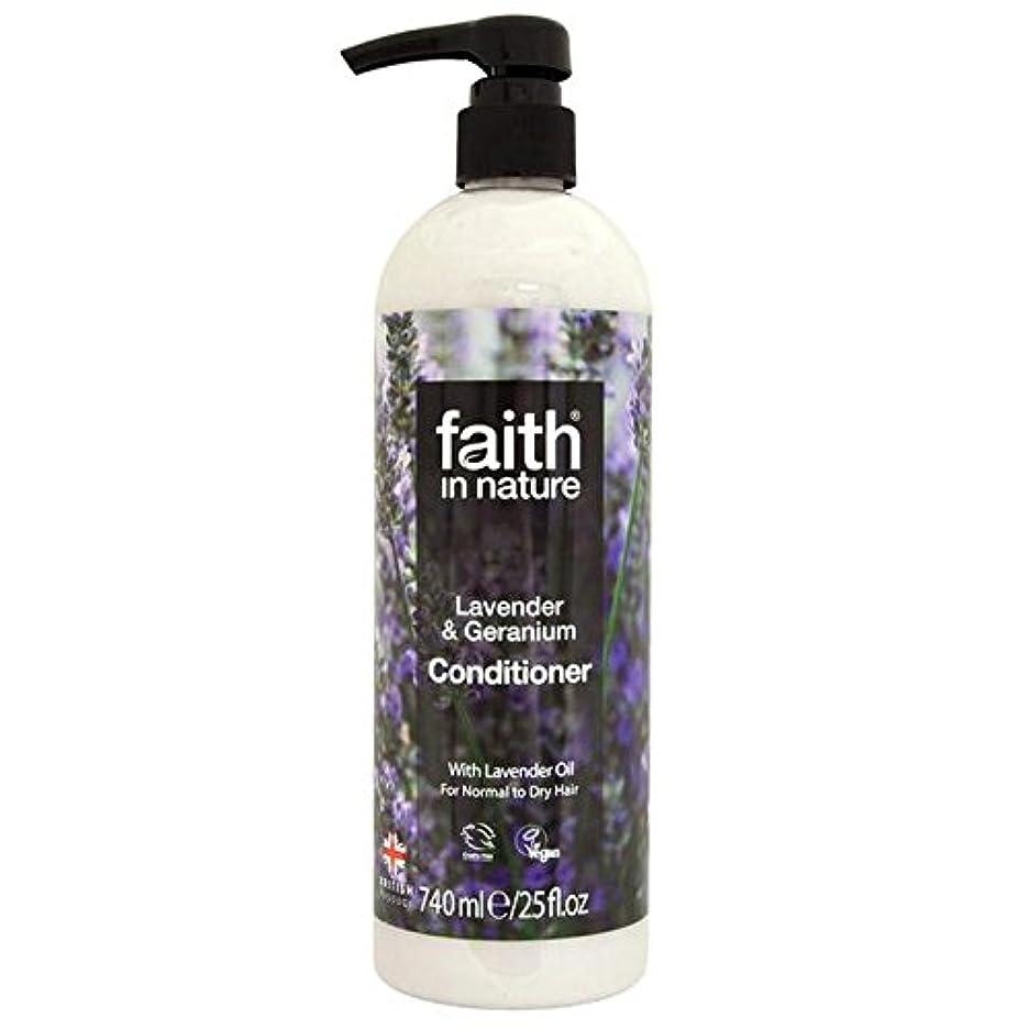 十分に松の木オーナメントFaith in Nature Lavender & Geranium Conditioner 740ml (Pack of 4) - (Faith In Nature) 自然ラベンダー&ゼラニウムコンディショナー740ミリリットルの信仰 (x4) [並行輸入品]
