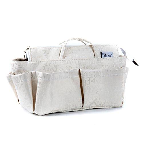 Periea Handtaschen-Organiser, 12 Fächer - Keriea (Weiß, L)
