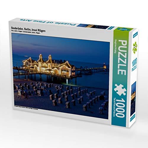 CALVENDO Puzzle Seebrücke, Sellin, Insel Rügen 1000 Teile Lege-Größe 64 x 48 cm Foto-Puzzle Bild von Siegfried Kuttig
