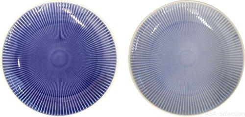 ASA Linea Set Teller, Keramik, Blau, 20.3 cm, 2-Einheiten