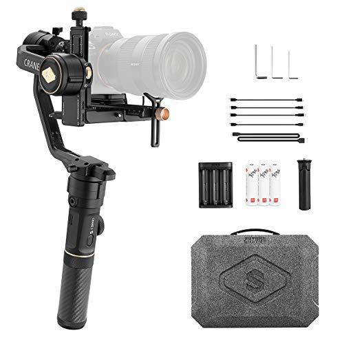 ZHIYUN Crane 2S Stabilizzatore Gimbal 3 Assi per fotocamere DSLR, fotocamere mirrorless Canon, Sony, Nikon e Panasonic