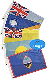 Courtesy Boat Flag Pack: Pacific Ocean (22 Flags)