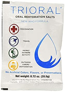 TRIORAL - Oral Rehydration Salts ORS  15 One Liter Packets/Box  World Health Organization  WHO  New Formula for Food Poisoning Hangovers Diarrhea Electrolyte Replacement