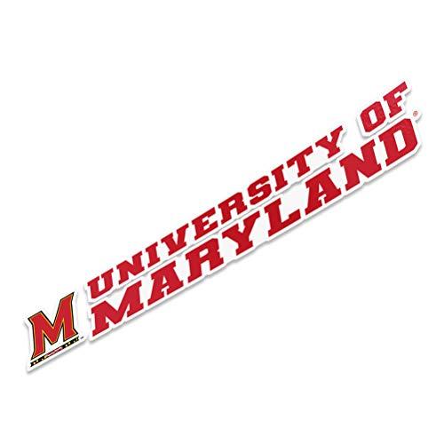 University of Maryland Terrapins UMD Terps Name Logo Vinyl Decal Laptop Water Bottle Car Scrapbook (8 Inch Sticker)