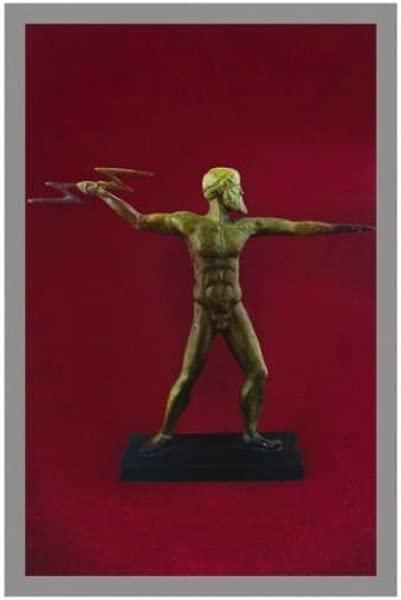 Ancient Greek Bronze Museum Statue Replica Of Zeus With Lightning 1137