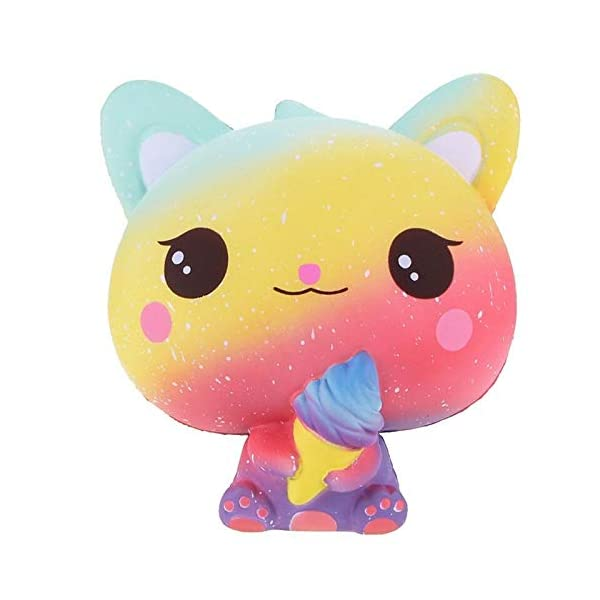 QAES Lovely Squishies, Kawaii Ice Cream Cat Penguin Unicorn Squishy, Creamy Aroma Slow Rising Squeeze Toys for Boys and Girls Gifts Soft Toy (Color : 10x10 cm) 6